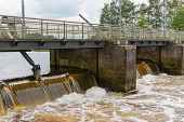 Barrage In Dutch River Vecht