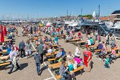 Tourists Visiting  The Fishing Days Of Urk, The Netherlands