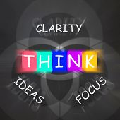 Words Displays Clarity Of Ideas Thinking And Focus