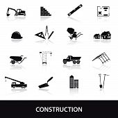 construction icons set eps10