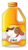 Illustration of a gallon of dog soap on a white background