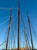 Sailing Masts Of Wooden Tallships