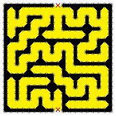 Square Impenetrable Maze