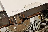 Darling Word Typed On Old Black Typwriter