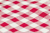 picture of tartan plaid  - Closeup of Texture red tartan plaid textile fabric for background