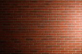 brick wall texture with side light