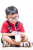 boy drink milk