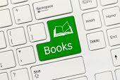 White Conceptual Keyboard - Books (green Key)