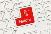 White Conceptual Keyboard - Failure (red Key)