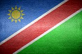 Closeup Screen Namibia Flag Concept
