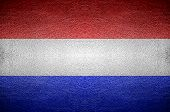 Closeup Screen Netherland Flag Concept
