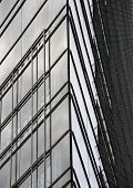 Abstract Of Modern Building Glass Corner Facade