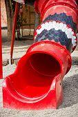 Red Playground Slide