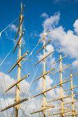 Four Wood Masts