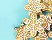 Christmas Gingerbread Cookies Border