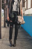 Detail Of Pretty Girl Posing In A Metro Station