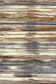 Weathered wooden blinds