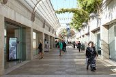 Shoppers and tourists at Mamilla shopping street