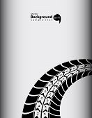 Tire Track Abstract Background, Vector Illustration, Eps10