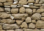 Ancient Stone Wall in Provence