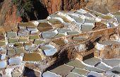 View of Salt ponds, Maras, Cuzco