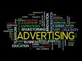 advertising vision concept word cloud