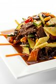 Chinese Cuisine  - Meat with Black Fungus and Sliced Vegetables