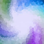 Abstract Polygonal Texture In Blue, Green And Violet