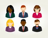 Social Media People User Icons Set