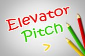 stock photo of elevator  - Elevator Pitch Concept text on background business idea - JPG