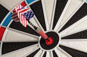 Dart in Bullseye - US Flag Tail