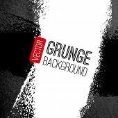 Abstract vector grunge background. Black and white backdrop. Art