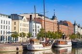 Old Quay Of Helsinki City With Moored Sailing Ships