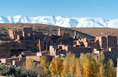 pic of atlas  - Village in the Atlas Mountains Morocco Africa - JPG