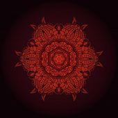 Round lace pattern. Vector. Ornamental round lace pattern