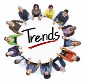 Diverse People Holding Hands Trends Concept