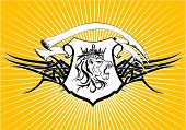 heraldic lion head crest background6