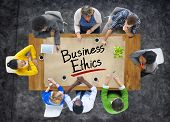 Multiethnic Group of People Discussing About Business Ethics