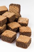 Pile Of Chocolate Wafers Biscuits