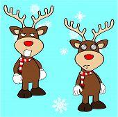 xmas reindeer cartoon expression set8