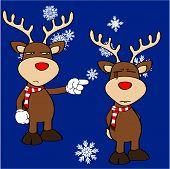 xmas reindeer cartoon expression set3