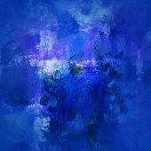 Blue Abstract On Canvas