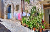 Alleyway. Rocca Imperiale. Calabria. Italy.