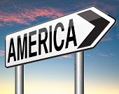 America north america or south and central america travel vacation and tourism road trip trough continent road sign