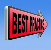 best practice good available technology used by strategic management road sign