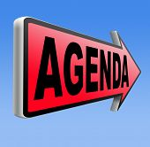 agenda monthly timetable and business schedule organizing and planning time use for meetings and organize organization