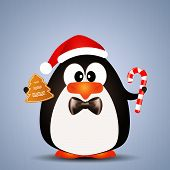 Penguin With Candy Cane