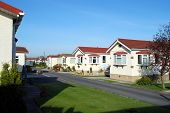stock photo of trailer park  - Retirement or trailer park holiday homes in Lancashire - JPG
