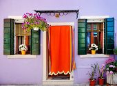Colorful House In Burano, Venice, Italy