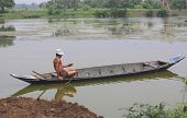 Agriculturist On A Boat